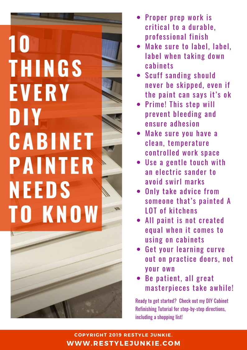 10 things every diy cabinet painter needs to know